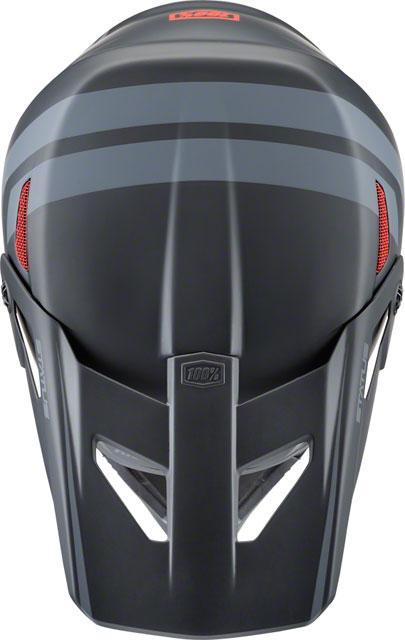 100/% Status Full-Face Helmet Black Meteor MD