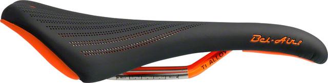 Ti-Alloy rails blk//orange SDG Bel-Air 2.0 saddle