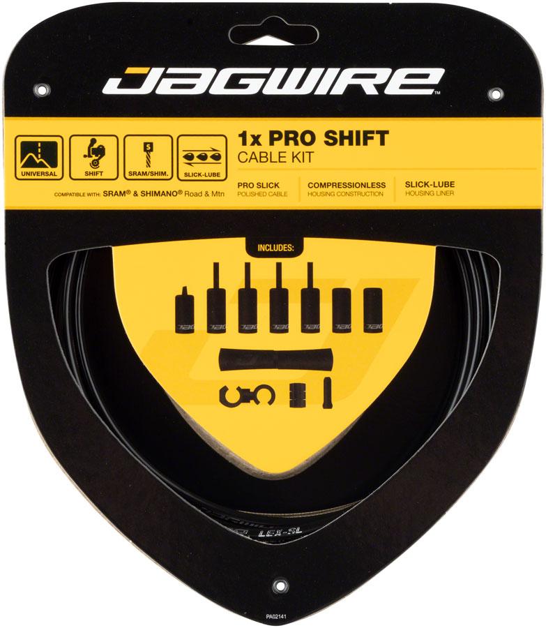 Stealth Black Jagwire 1x Pro Shift Kit Road//Mountain SRAM//Shimano