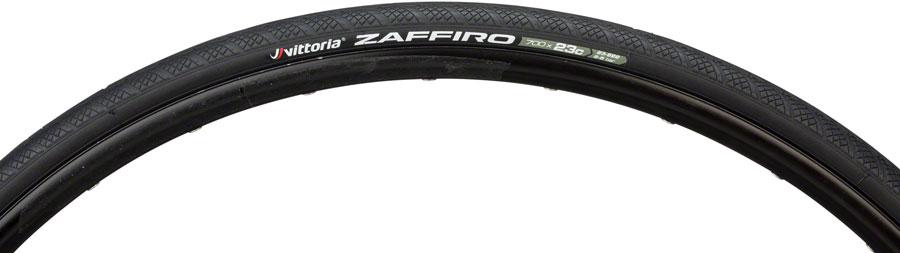 Vittoria Zaffiro IV Wire Bead Clincher Tire 700x23c Black Road Fixed Gear Bike